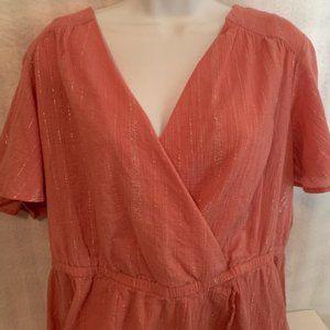 Lane Bryant Size 18 Dusty Pink Blouse